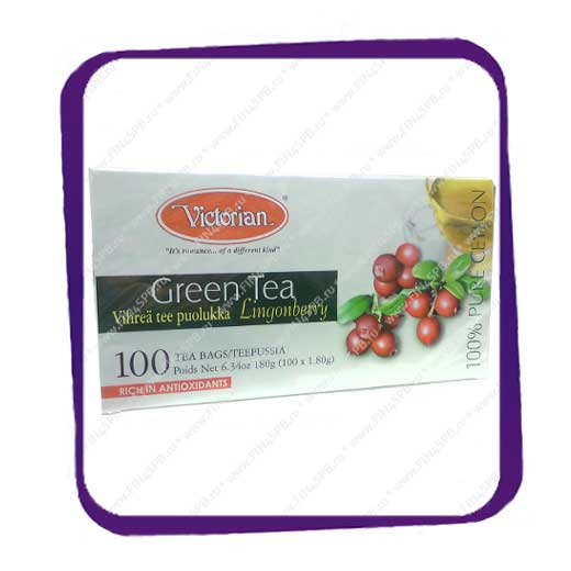 фото: Victorian - Green Tea Lingonberry 100 tb
