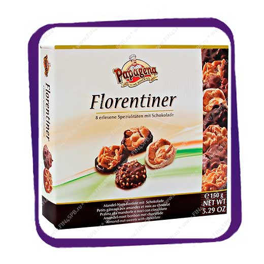 фото: Papagena - Florentiner - Almond Nut Sweets with Chocolate - 150g