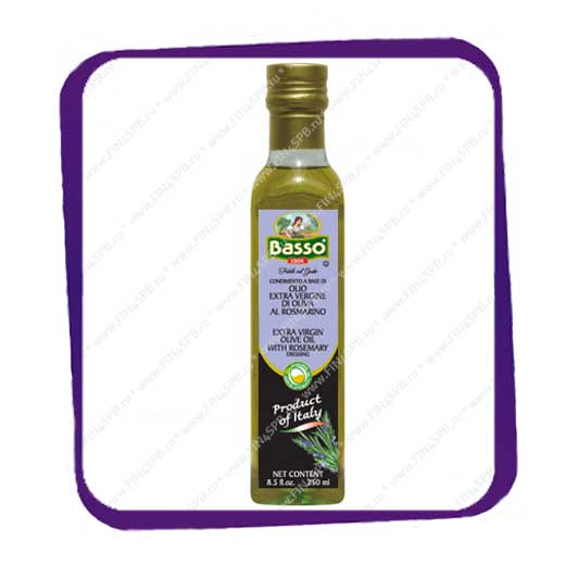 фото: BASSO - Extra Virgin Olive Oil with Rosemary