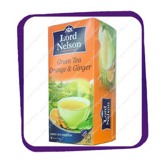 фото: Lord Nelson - Green Tea - Orange & Ginger 25tb