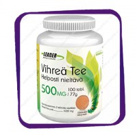 Leader Vihrea Tee 500 mg (Лидер - экстракт зеленого чая) таблетки - 100 шт
