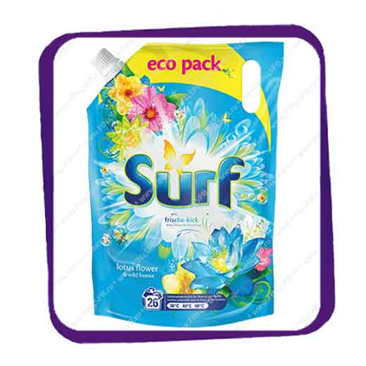 фото: Surf - wiht Essential Oils - Lotus Flower - soft eco pack 2L
