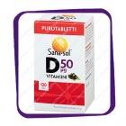 Sana-Sol D3-Vitamiini 50 Mkg Mustaherukka (Сана-Сол Д3-Витамин 50 Мкг Черная Смородина) жевательные таблетки - 120 шт