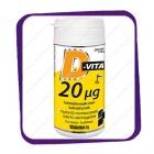 Vitabalans D-Vita Kids 20 mkg Salmiakki (Д-Вита Кидс 20 Мкг вкус Лакрица) таблетки - 200 шт