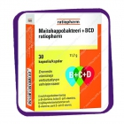 Ratiopharm Maitohappobakteeri B-C-D (кисломолочные бактерии +B +C +D) капсулы - 30 шт
