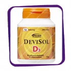 Devisol D3 D3-Vitamiinitabletti 10 Mikrog (Девисол D3 10 мкг) жевательные таблетки - 200 шт