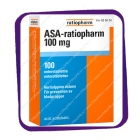 ASA-ratiopharm 100 mg (АСА-ратиофарм 100 мг - ацетилсалициловая кислота) таблетки - 100 шт