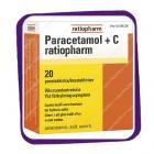 Paracetamol + C Ratiopharm (Парацетамол +C ратиофарм) шипучие таблетки - 20 шт