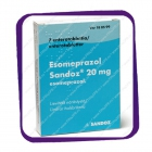 Esomeprazol Sandoz 20 Mg (для кратковременного лечения симптомов рефлюкса) таблетки - 7 шт