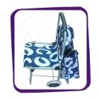Тележка стул с сумкой синяя